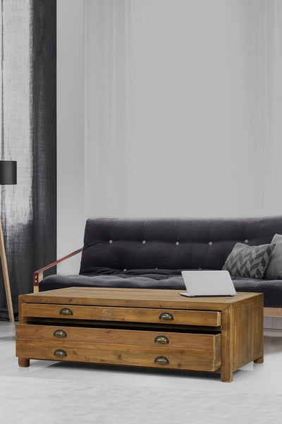Wooden coffee table with storage online furniture Melbourne