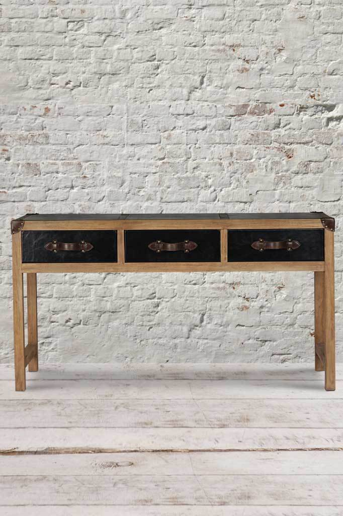 Wooden console hallway table vintage furniture