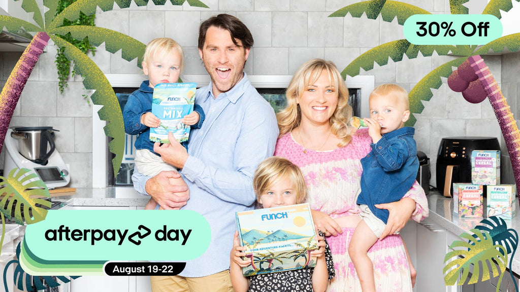 Happy family with Funch products