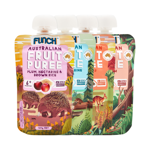 Australian Fruit Puree Flavour Pack 4 x 120g