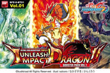 "Future Card Buddyfight Triple D display box set : 1 ""Unleash! Impact Dragon"""