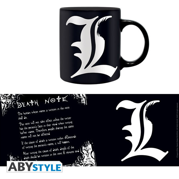 Death Note - Rules og L Krus - 320 ml (forudbestilling)