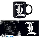 Death Note - Rules og L Krus - 320 ml