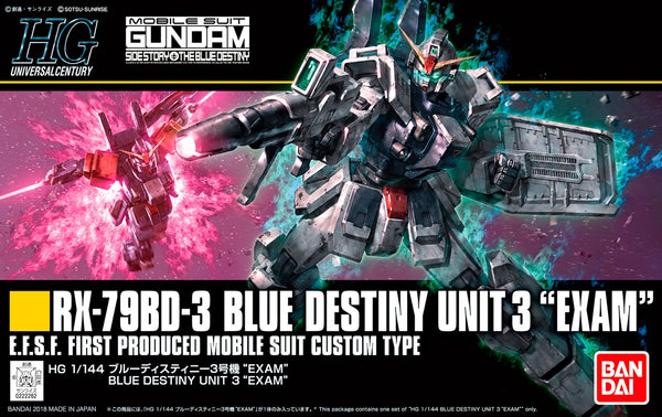 Gundam - RX-79BD-3 Blue Destiny Unit 3 Exam - High Grade Model kit