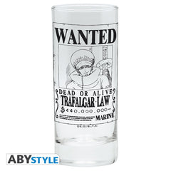 One Piece - Trafalgar Law Wanted - drikkeglas