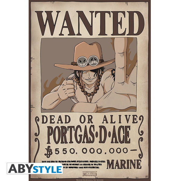 One Piece - Ace Wanted - Plakat
