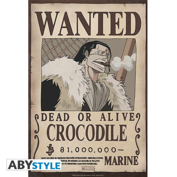 One Piece - Crocodile Wanted - Plakat