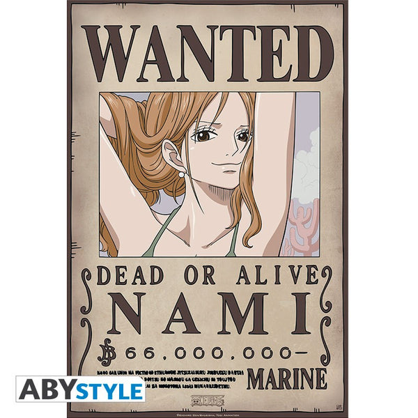 One Piece - Nami Wanted new world ver. - Plakat