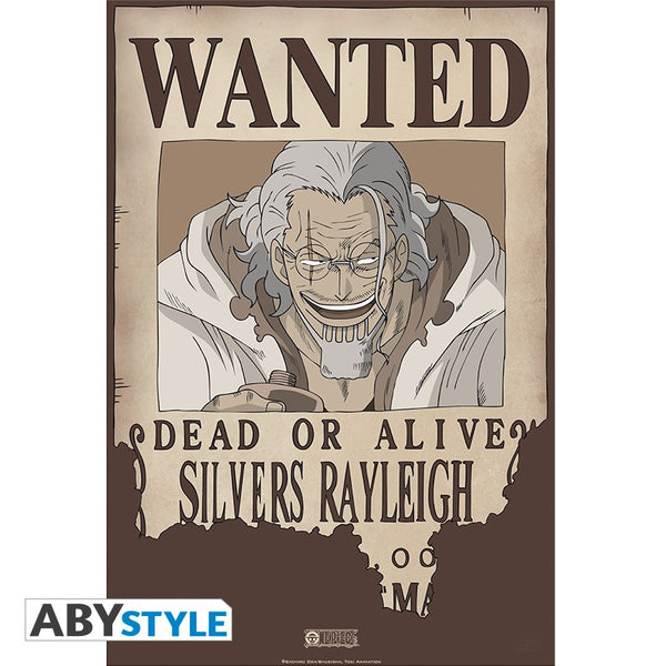 One Piece - Silvers Rayleigh Wanted - Plakat