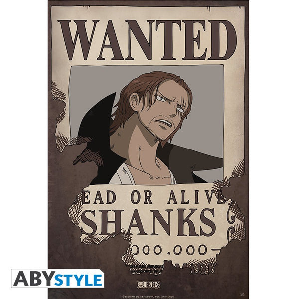One Piece - Shanks Wanted - Plakat