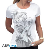Sailor Moon - T-shirt ladies - Usagi & Moon Stick