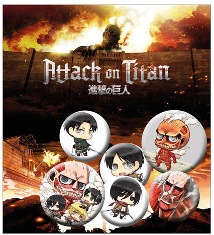 Attack on Titan - Badge sæt - Chibi