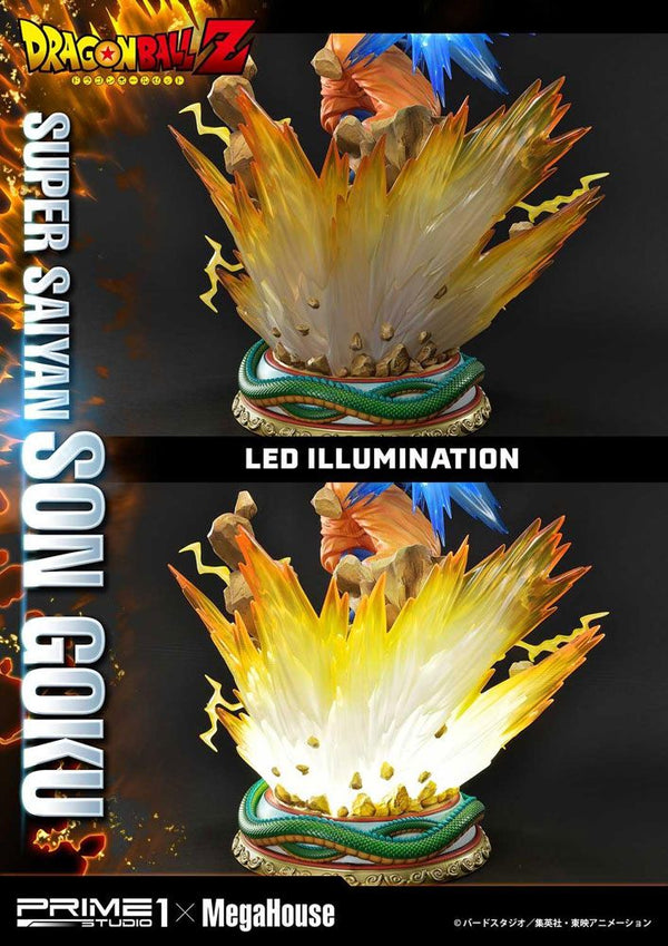 Dragon Ball Z – Son Goku Super Saiyan Deluxe ver. (LED LIGHT UP) – 1/4 PVC Figur (Forudbestilling)