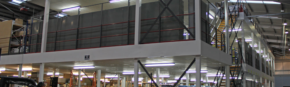 2 tier mezzanine floor installation