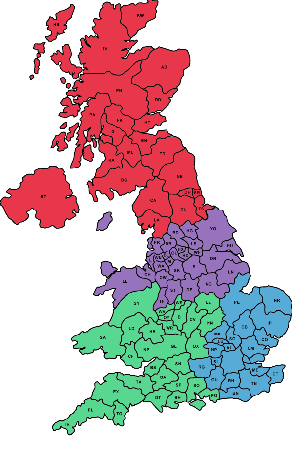 Filplastic UK Regional Map