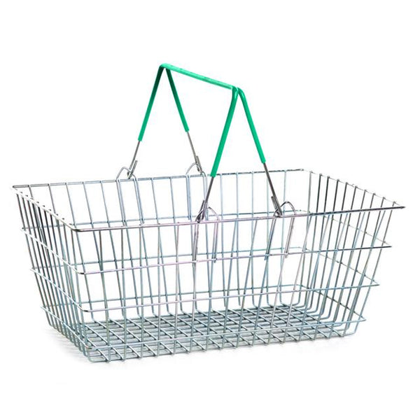 Green Wire Shopping Basket