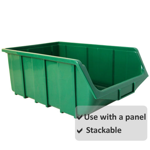 Pack of 4 x Stackable Parts Bin Ref 115 (333x505x187mm)