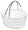 Oval Wire Shopping Basket - Blue (10 Pack)
