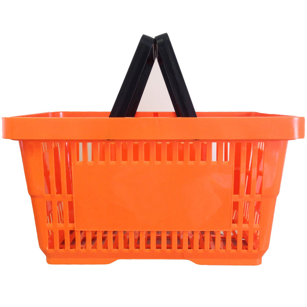 Orange Plastic Shopping Baskets Filplastic Uk Ltd