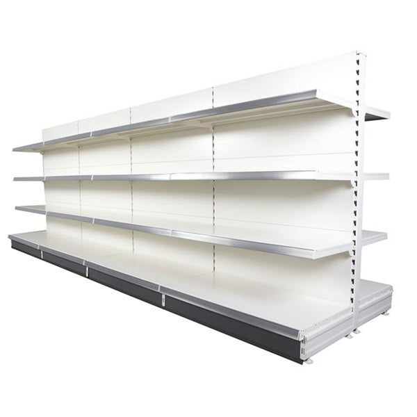 shop shelving run of 4