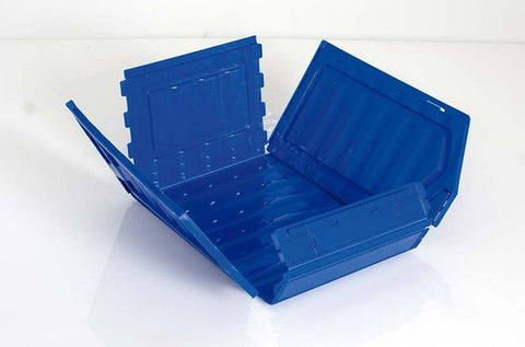 Flat Pack Folding Plastic Parts Bins 160x236x130mm (Pk 5) T52P