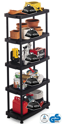 Vented Plastic Shelving 40kg/level 8040/5 (790x390x1760mm)