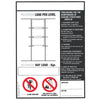 Drive Thru' Pallet Racking Load Notice (BLS3)