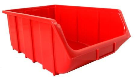 Plastic Parts Bin ECO 115 Red