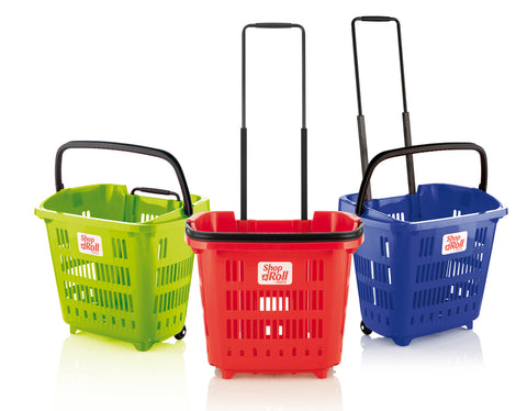 Plastic Shopping Trolley Basket Lime Green