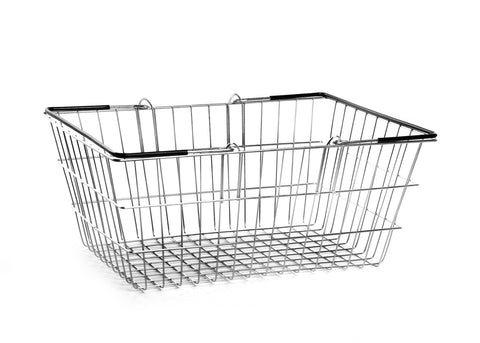 20 Black Wire Shopping Baskets & FREE plinth