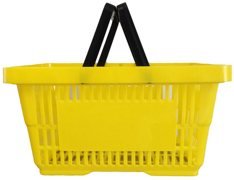 Plastic Shopping Basket Yellow (22 L)