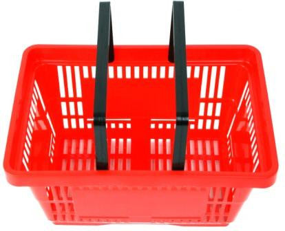 Red Plastic Shopping Baskets
