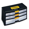 Mobile Storage 3 Drawers Black