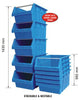 Large Stack & Nest Bin Supra 8 - BLUE