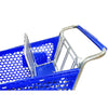 Blue 100L Shopping Trolley baby seat