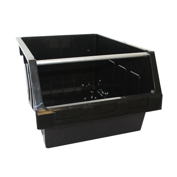 Large Black Recycled Supra 8 Bin