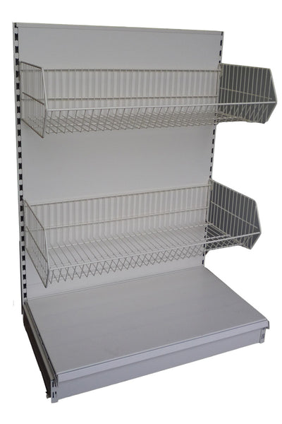 wire basket for shop shelving filplastic uk ltd. Black Bedroom Furniture Sets. Home Design Ideas