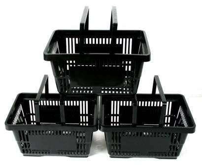 Plastic Shopping Basket Black (22 L)