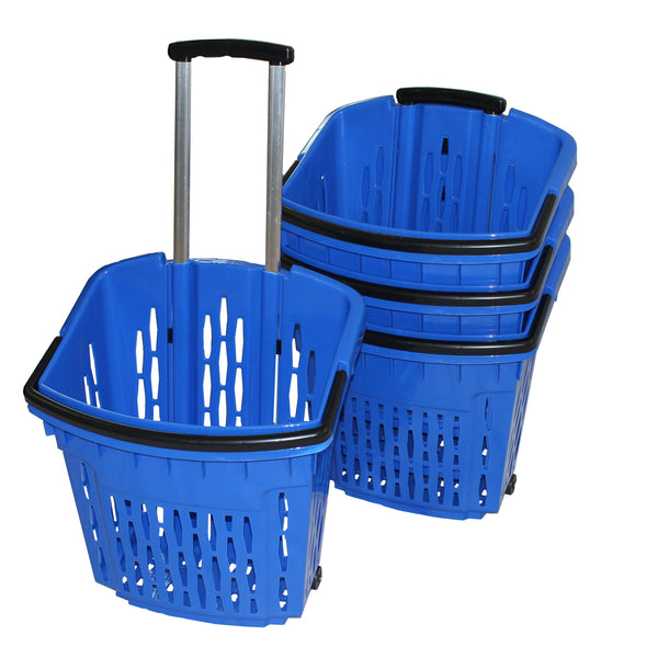 Blue Shopping Trolley Basket