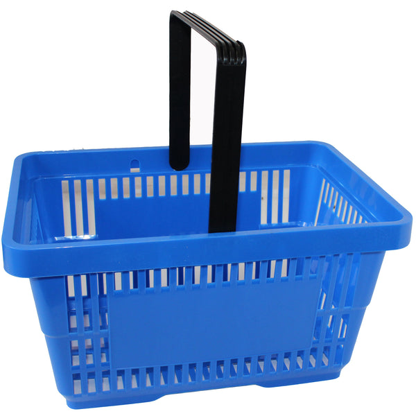 Offer! Single Handle Shopping Basket Blue (22L)