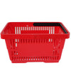 Offer! Single Handle Shopping Basket Red (22L)