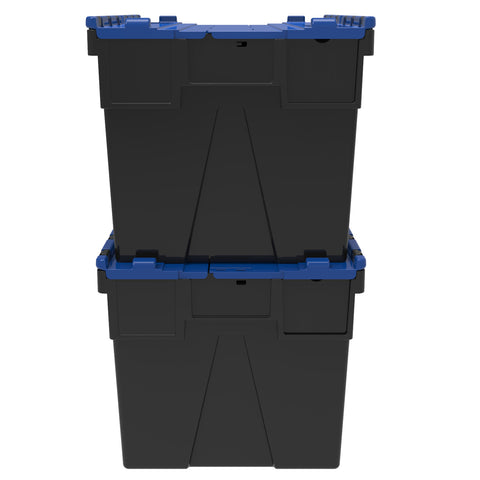Set of 10 - Loadhog H/Duty Attached Lid Containers 600x400x365mm (65L)