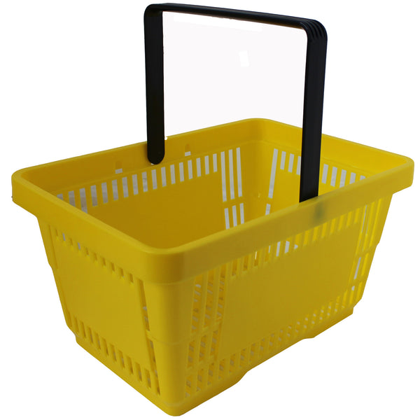 Offer! Single Handle Shopping Basket Yellow (22L)