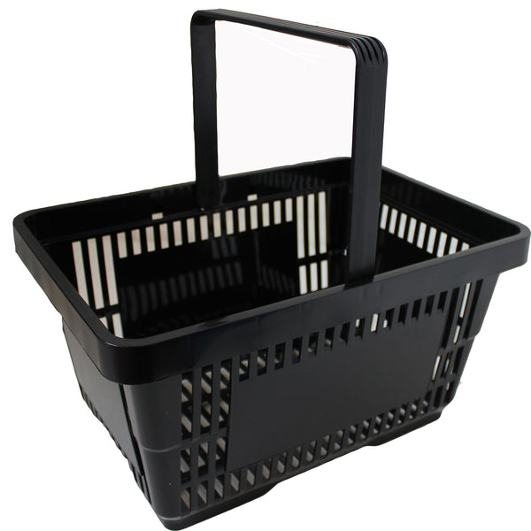 Offer! Single Handle Shopping Basket Black (22L)