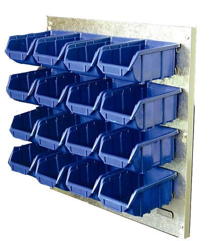 Wall Kit with 16 Parts Bins (Steel Panel)