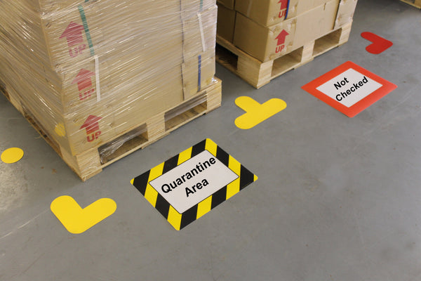 Self Adhesive Floor Wall Warehouse Sign Frame A4 Size