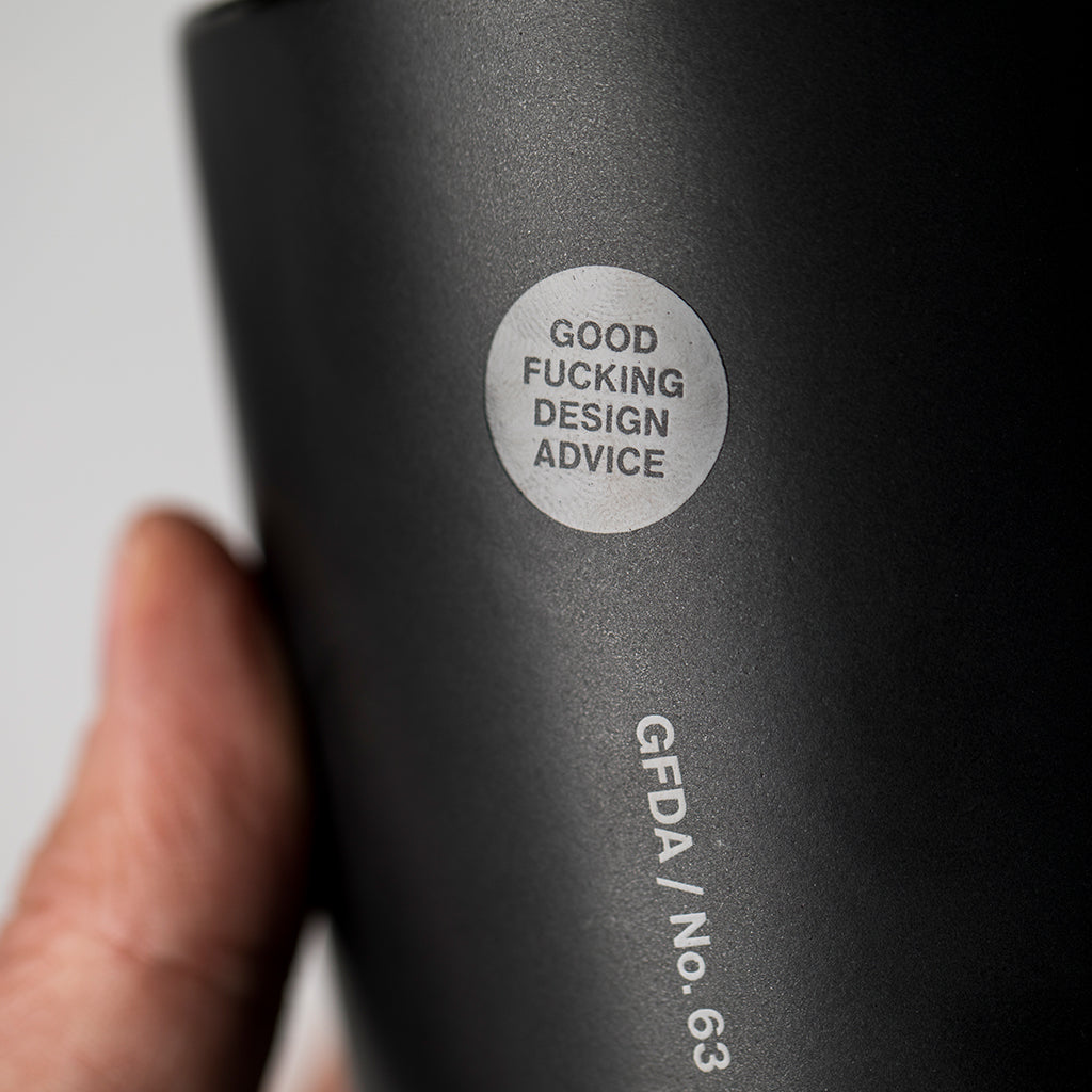 Don't fucking procrastinate. Mug (Black-on-Black)