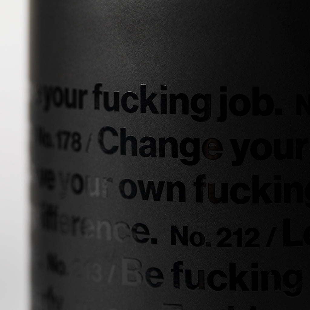 Advice. Mug (Black-on-Black)