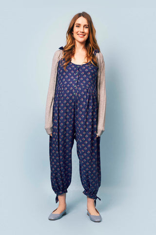 Molly Jumpsuit in Navy Pattern