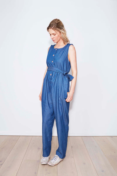 Martha Jumpsuit in Chambray